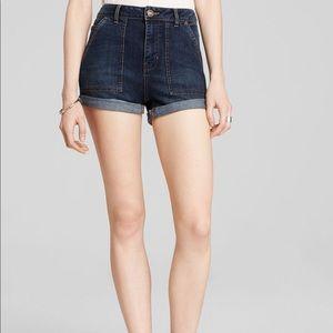 Free People High-Rise Cuffed Shorts